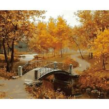 """16X20"""" DIY Paint By Number Linen Oil Painting Canvas The Autumn Wind Is Soughing"""