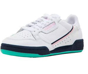 Adidas Women's Continental 80 W Casual Sneaker, White/True Pink/Navy