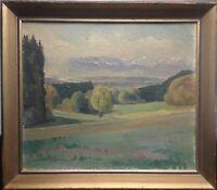 """::Alexander Kardin Indrak 1917-1994 herbstliche Landschaft """"bei Deining"""" rs. ges"""