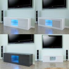 TV Stand Cabinet RC Console Table Meida Entertainment Center High Gloss w/ Shelf