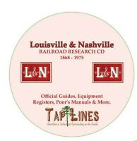 LOUISVILLE & NASHVILLE - OFFICIAL GUIDES, EQUIPMENT REGISTERS & RESEARCH ON DVD