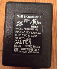 Power Supply . Model  AD-0620-UL DC 6V 200 mA