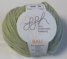 COTTON ACRYLIC GGH BALI DK/LIGHT WORSTED WT 50 GR - 1 BALL LAUREL DILL #82 (12G)
