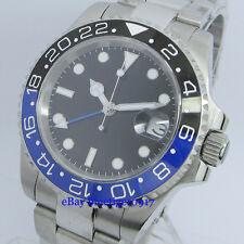 Sapphire Glass Parnis 40mm Ceramic Bezel Men's 2813 Movement GMT Automatic Watch