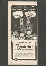 BENEDICTINE La Grande Liqueur Francaise -After coffee-sip -1948 Vintage Print Ad