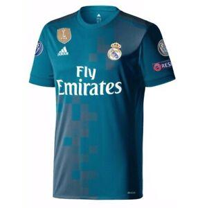 Real Madrid Soccer Jersey 17/18 Season adidas Champions League Third Kit Teal