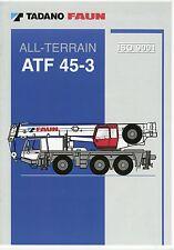 Prospekt D GB F E 2002 Tadano Faun ATF 45-3 Autokran mobile crane grue brochure