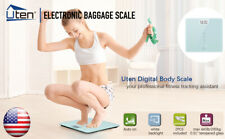 400LB DIGITAL ELECTRONIC LCD PERSONAL SCALE GLASS WEIGHT WEIGHING