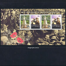 2008 - Australia - ANZAC Day - 90th Anniversary of the End of WW1 minisheet -MNH