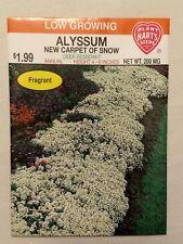 Alyssum Annual Flower Seeds, New, Carpet of Snow, Deer Resistant, Fragrant