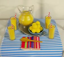 "Lemonade Food Play Set 9 Pc for 18"" American Girl Doll Accessory"