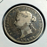 CANADA 1872-H TWENTY FIVE CENTS STERLING SILVER NICE COLLECTOR COIN