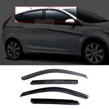 Smoke Window Sun Vent Visor Rain Guards 4P For HYUNDAI 2011-17 Accent Hatchback