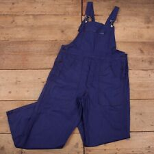 "Vintage Navy Blue French Workwear Chore Dungarees Overalls 38"" x 30"" R18102"