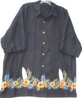WfF men's short sleeve button front 100% silk Hawaiian/Aloha shirt size XL