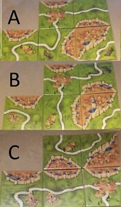 SPARE CARCASSONNE TILES CITY WITH ROADS New Edition Board Game BRAND NEW, SPARES