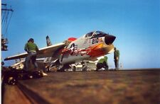 "CHANCE VOUGHT F-8C ""Crusader"" VF-84 prepares for launch in 1959 Continental-size"