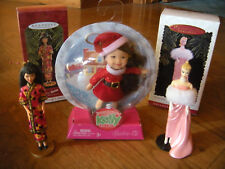 Happy Holidays Kelly & Barbie's 1996 Halmark and 1997 Chinese Barbie Ornaments.