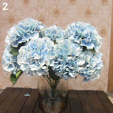 IK- 5 Heads Wedding Artificial Hydrangea Silk Flower Home Party Bouquet Decor Sw