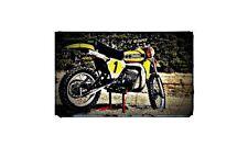 1977 yz400 Bike Motorcycle A4 Retro Metal Sign Aluminium