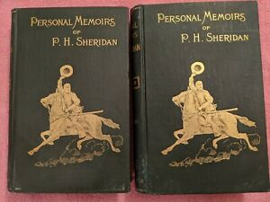 PERSONAL MEMOIRS OF P.H. SHERIDAN: 2 Volume Set, 1888, Webster & Company, Maps
