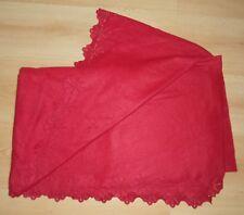 Fleecedecke Kuscheldecke Wohndecke Plaid Rot ausgestanztes Muster Schneeflocke
