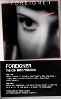 Foreigner Inside Information 1987 Hard Classic Rock Roll Cassette Tape Pop