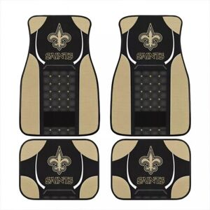 New Orleans Saints Universal Car Front/Rear Floor Rugs Floor Mats 2/4 PCS Gift