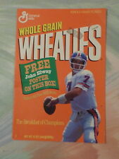 Wheaties John Elway Cereal Box Poster ONLY 1993 K7