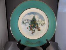 "Avon 1978 Christmas Plate ""Trimming The Tree"" By Enoch Wedgwood England W/Box"
