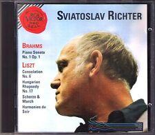 Sviatoslav RICHTER: BRAHMS Klaviersonate Nr.1 LISZT Harmonies du Soir Scherzo CD