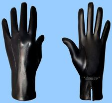 NEW MENS size 7.5 or XS UNLINED BLACK GENUINE KID LEATHER DRESS GLOVES
