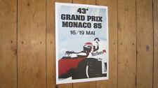 Monaco Grand Prix F1 1985 Repro POSTER