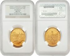 Germany 2004-A Unesco Heritage Site Bamberg 100 Euro Gold NGC MS-70