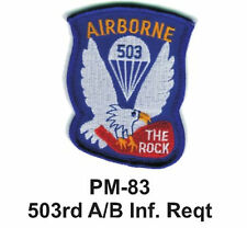 "3"" 503rd A/B INF. REQT Embroidered Military Patch"