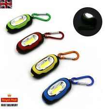 LED Torch Lamp Pocket Mini Keyring Camping Flashlight 3-Mode  *FREE BATTERIES*