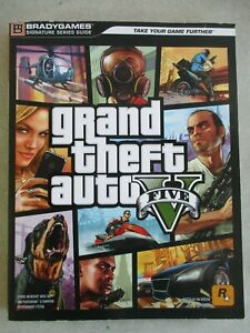 GRAND THEFT AUTO FIVE V BRADYGAMES STRATEGY GUIDE 2013 PS3 XBOX 360