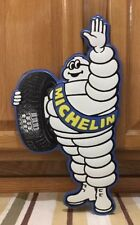 Michelin Man Tire Sign Metal Wall Decor Garage Pub Bar Coupe Ford Chevy Gas Oil
