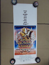 BLAZING SADDLES Original AUTHENTIC VINTAGE Insert Movie Poster Signed Mel Brooks