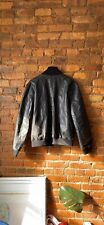 M0851 Black Leather Bomber Jacket Retail 900$