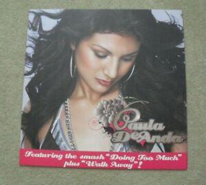 RARE Paula DeAnda Record Store 24x24 Cardboard Album Promo Card Window Sign