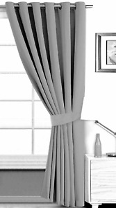 "Eyelet Ring Top Door Curtain 66"" x 90"" Light Blocking Blackout with Tie Back"