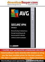 AVG Secure VPN 2020 - 5 Device - 1 year [Download]