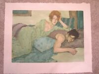"""Malcolm Liepke """"Seduction in Blues & Greens"""" Lithograph Hand Signed & Numbered !"""