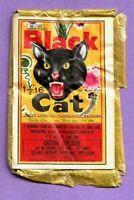 Vintage BLACK CAT Flashlight Firecrackers Label * DOT CLASS C * Made in MACAU *