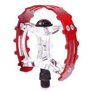 """Wellgo Old school BMX XC-II bear trap Bike pedal 1/2"""" - ONE PIECE CRANKS"""