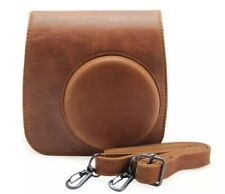 Brown PU Leather Camera Bag Cover Case Shoulder Bag for Fuji Instax Mini 8 / 9