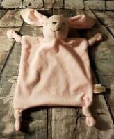 Dan Dee Pink Bunny Lovey Plush Rattle Rabbit security Blanket  Dandee Baby