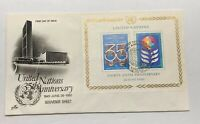 United Nations 35th Anniversary 1945 - 1980 First Day Issue Postal Cover FDC