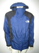 Vintage The North Face Gore Tex Parka Jacket Black Blue DISTRESSED Size MEDIUM